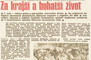 5. máj 1989 v týženííku Kysuce
