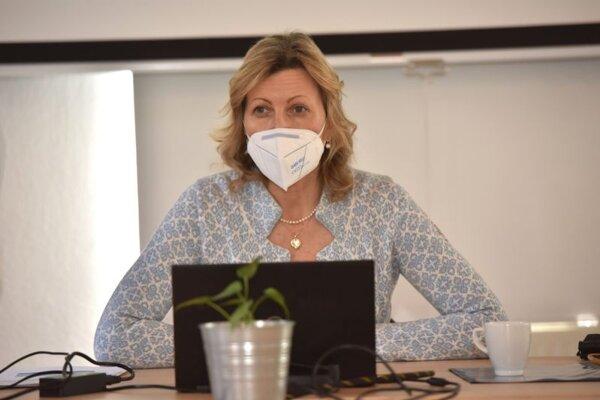 Predsedníčka občianskeho združenia Za našu vodu Annamarie Velič.