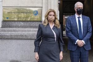 Prezidentka Zuzana Čaputová a šéf Európskej environmentálnej agentúry Hans Bruininckx.