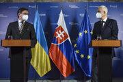 Ukrajinský minister zahraničných vecí Dmytro Kuleba a minister zahraničných vecí a európskych záležitostí  Ivan Korčok.