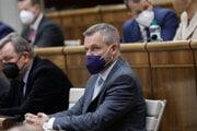 Peter Pellegrini v parlamente.