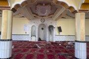 Miesto útoku v mešite.