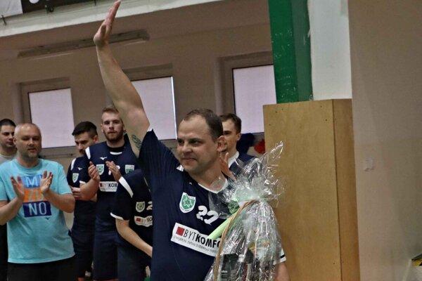 Tomáš Straňovský pred svojim posledným súťažným zápasom doma vhale Milénium.