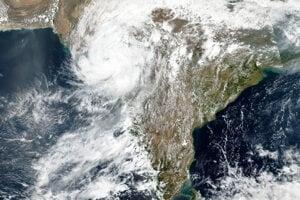 Pohľad na cyklón Tauktae z družice.