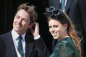 Princezná Beatrice a Edoardo Mapelli.