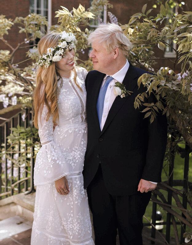 Boris Johnson s manželkou.
