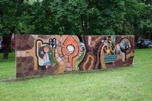 Mozaika pri Levickom hrade.
