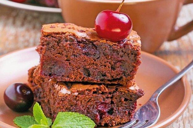Pečieme s Korzárom: Čerešňové brownies. Kliknutím na fotku sa dostanete k receptu.