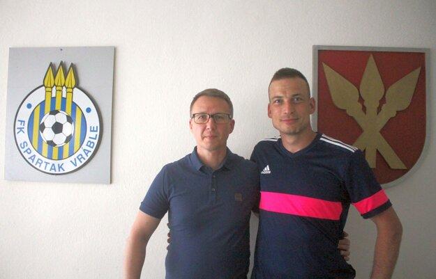 Juraj Pichňa so šéfom klubu Mariánom Bafrncom.