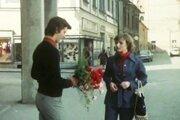 Smoliari a záber z Trenčína pri Mestskom úrade na námestí