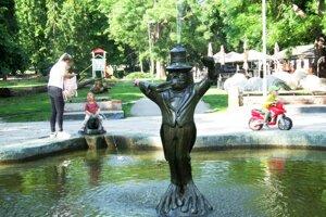 Vodník v Žabej fontáne.