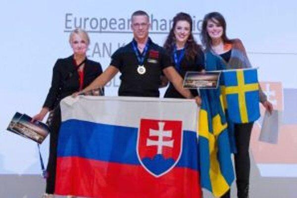 Sean Kasumovič medzi medailistami na ME vo Viedni.