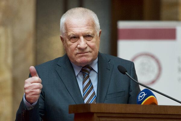 Václav Klaus na snímke z roku 2017.