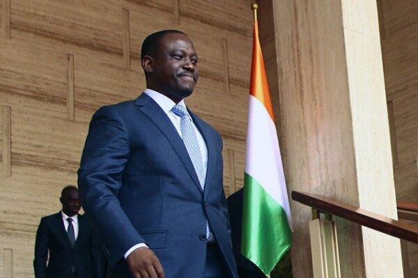 Guillaume Soro na archívnej snímke z 13. marca 2012 ešte ako premiér Pobrežia Slonoviny.