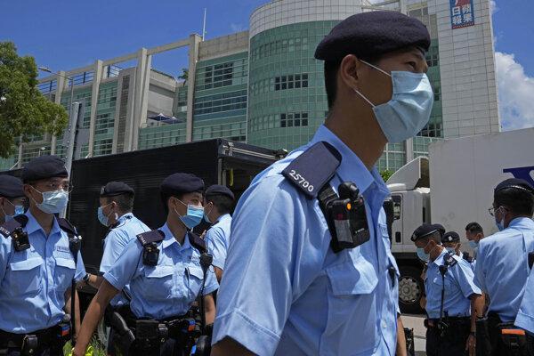 Hongkongská polícia - ilustračná fotografia.