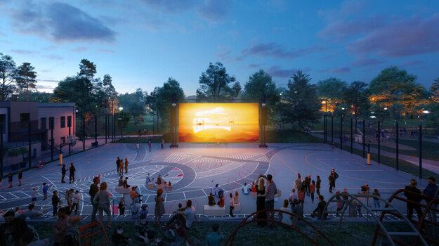 V lete by sa v Mestskom parku mohlo odohrávať aj premietanie filmov.