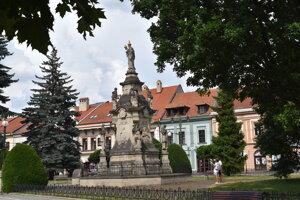 Súsošie Immaculaty. morový stĺp v Prešove.