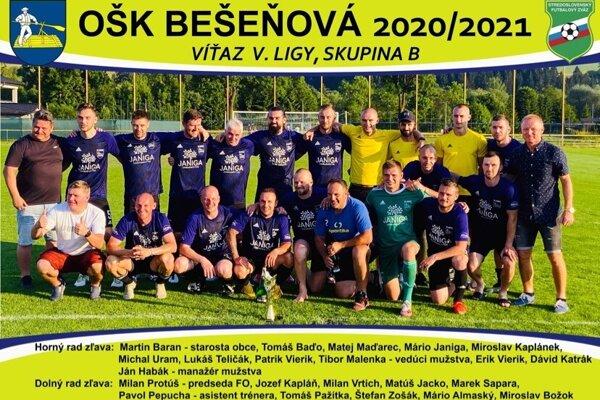 Bešeňová postúpila vyššie po víťazstve v V. lige.