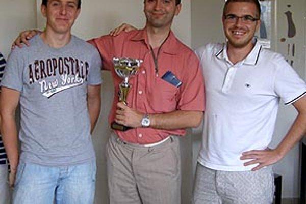 Najlepšia trojica na turnaji v Nitre - zľava Ondruš, Szücs a Hagara.
