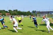 Z pohárového zápasu Tomášovce - Badín