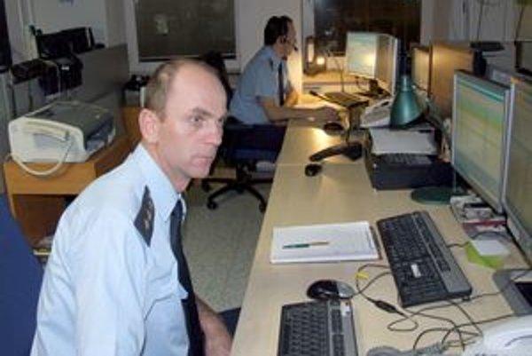 Operačné stredisko záchranného integrovaného systému v Nitre.