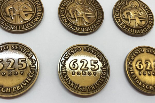 Pamätná minca mesta Senica