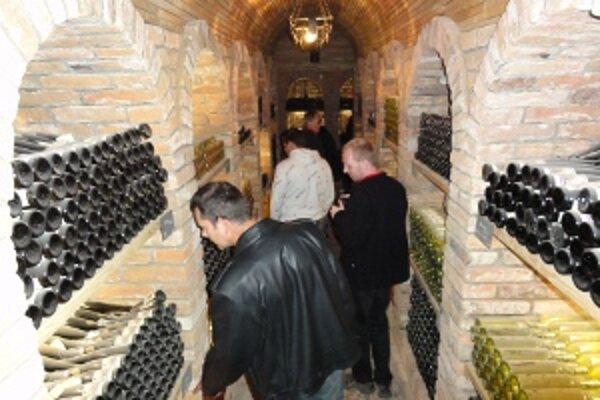 Historická časť podzemných pivníc v Topoľčiankach.