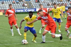 Zo zápasu MFK Zemplín Michalovce vs. MFK Tatran Liptovský Mikuláš.