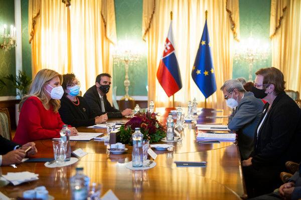 Prezidentka Zuzana Čaputová sa stretla so zástupcami Jednoty dôchodcov Slovenska.