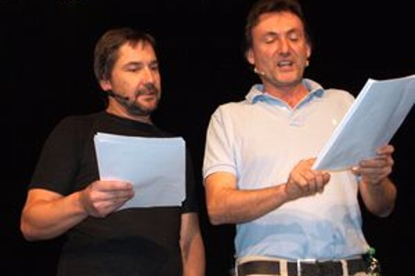 Martin Trnavský a Ady Hajdu si ako vtipní moderátori sadli.