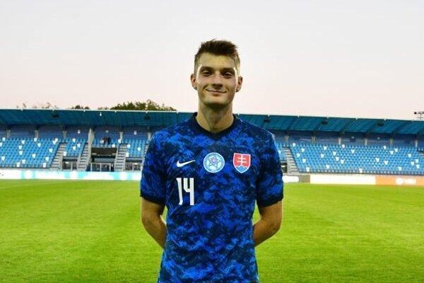 Sebastián Kóša v reprezentačnom drese.