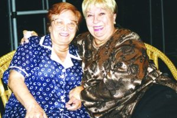 Eva Ruthová s Magdou Pavelekovou.