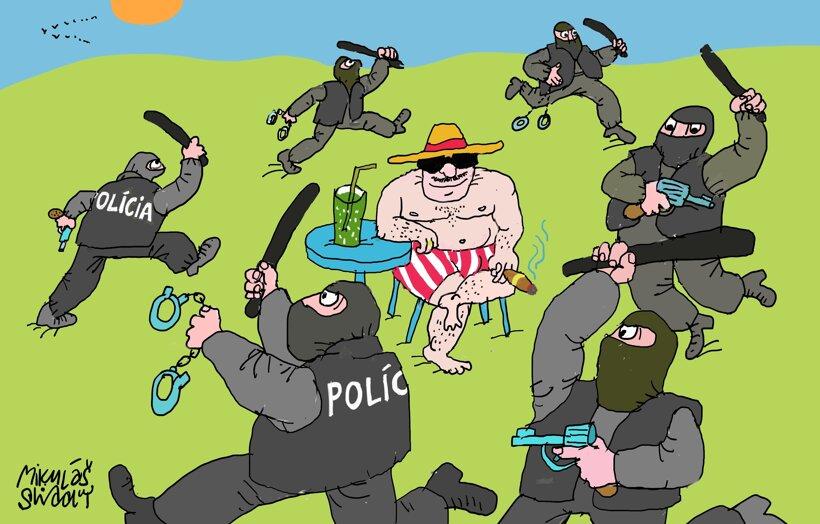 Vojna policajtov (Sliacky) 16. septembra