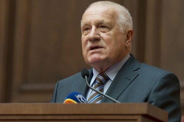 Václav Klaus, bývalý prezident Českej republiky, na snímke z marca 2017.