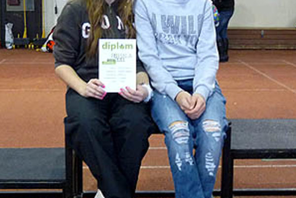 Nitrianske medailistky z Banskej Bystrice - Zuzana Benciová (vľavo) a Nikoleta Abbatantuono.