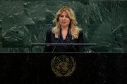 Prezidentka Zuzana Čaputová v OSN.