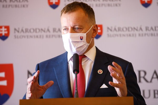 Predseda parlamentu a šéf Sme rodina Boris Kollár.