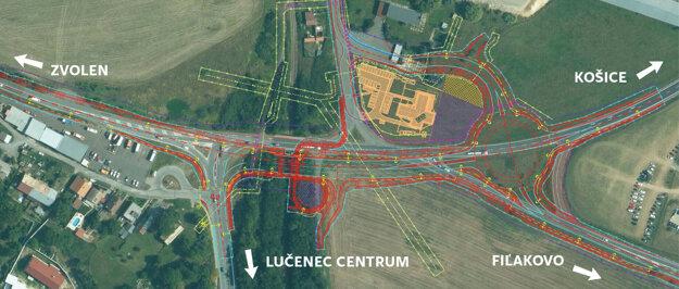 kruhový objazd, podchod pre peších i ďalšie nové prvky vzniknú pri výjazde z Lučenca.