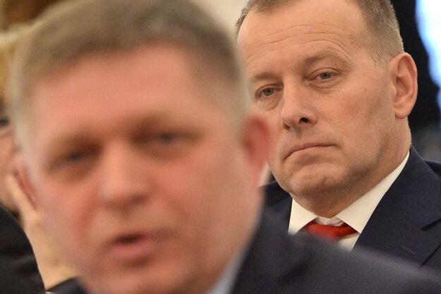 Robert Fico a Boris Kollár.