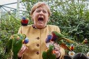 Angela Merkelová koncom septembra v berlínskej ZOO.