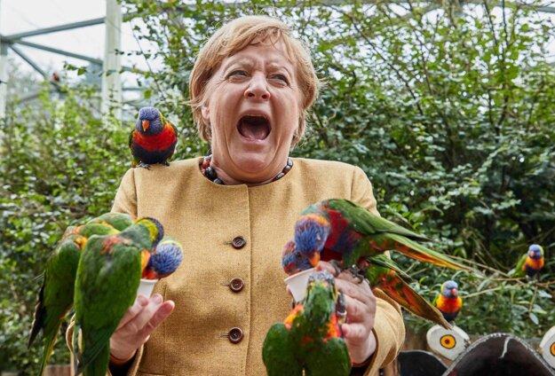 Merkelová počas návštevy Zoo koncom septembra.