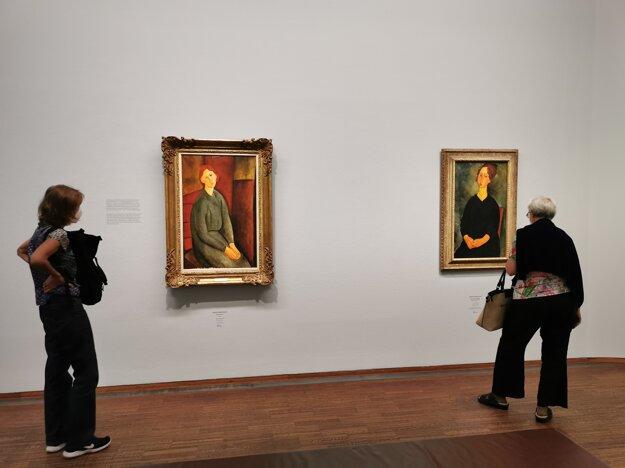 Obrazy Amedea Modiglianiho v Albertine