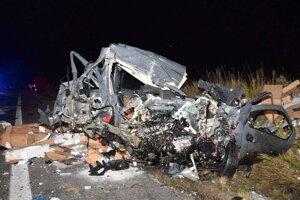 Na mieste dopravnej nehody na Gemeri.