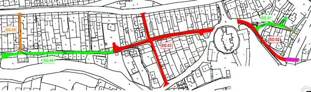 Plán obnovy a dobudovania nových úsekov ulíc v Spišskej Starej Vsi.