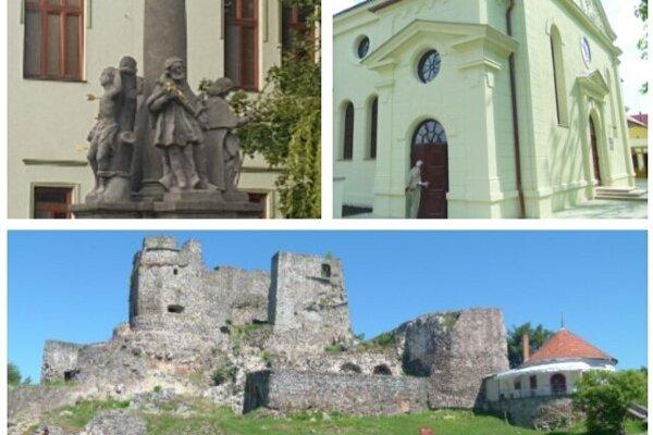 Historické miesta a objekty v Leviciach.