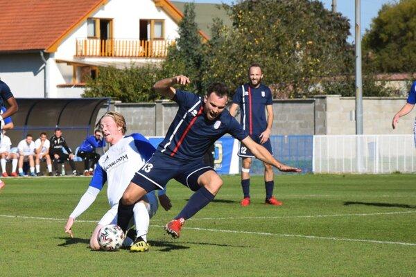 Momentka zo zápasu Kalná nad Hronom - Častkovce.