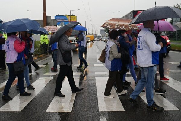 Minulotýždňový protest v Žiline.