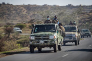 Ozbrojení povstalci z Tigrajského ľudového oslobodzovacieho frontu.