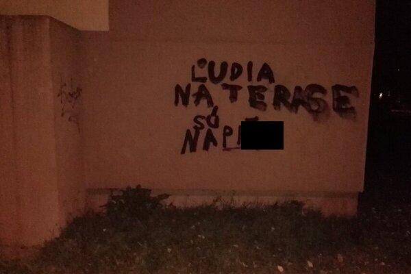 Nápis na stene urobil maloletý páchateľ.