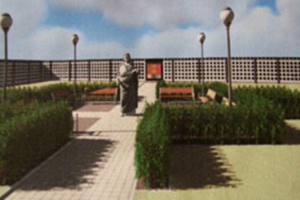 Nový cintorín bude vyzerať takto. Ráta sa aj s prepojením starého a nového cintorína.